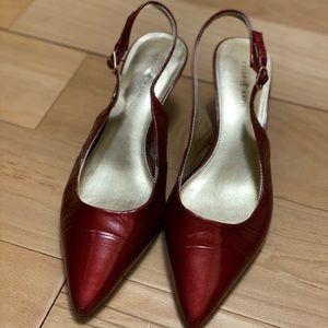 Kelly & Katie Red Slingback Kitten Heel Shoe
